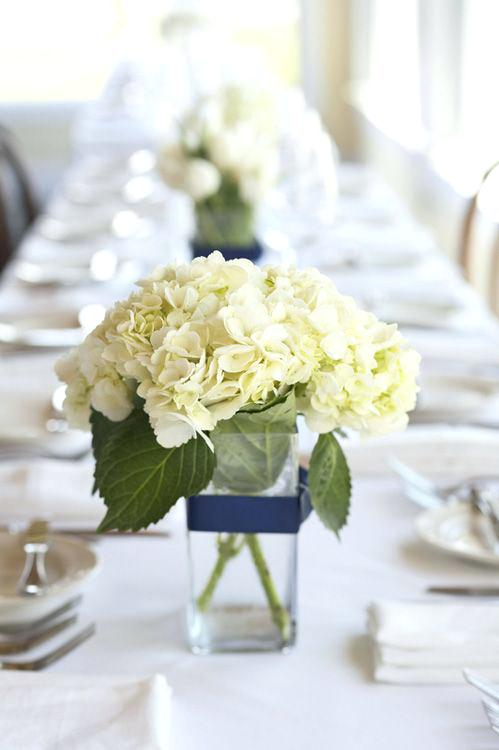 Hydrangea Centerpieces For Baby Shower : Bridal baby shower